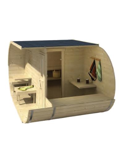 Barrel Oval Sauna